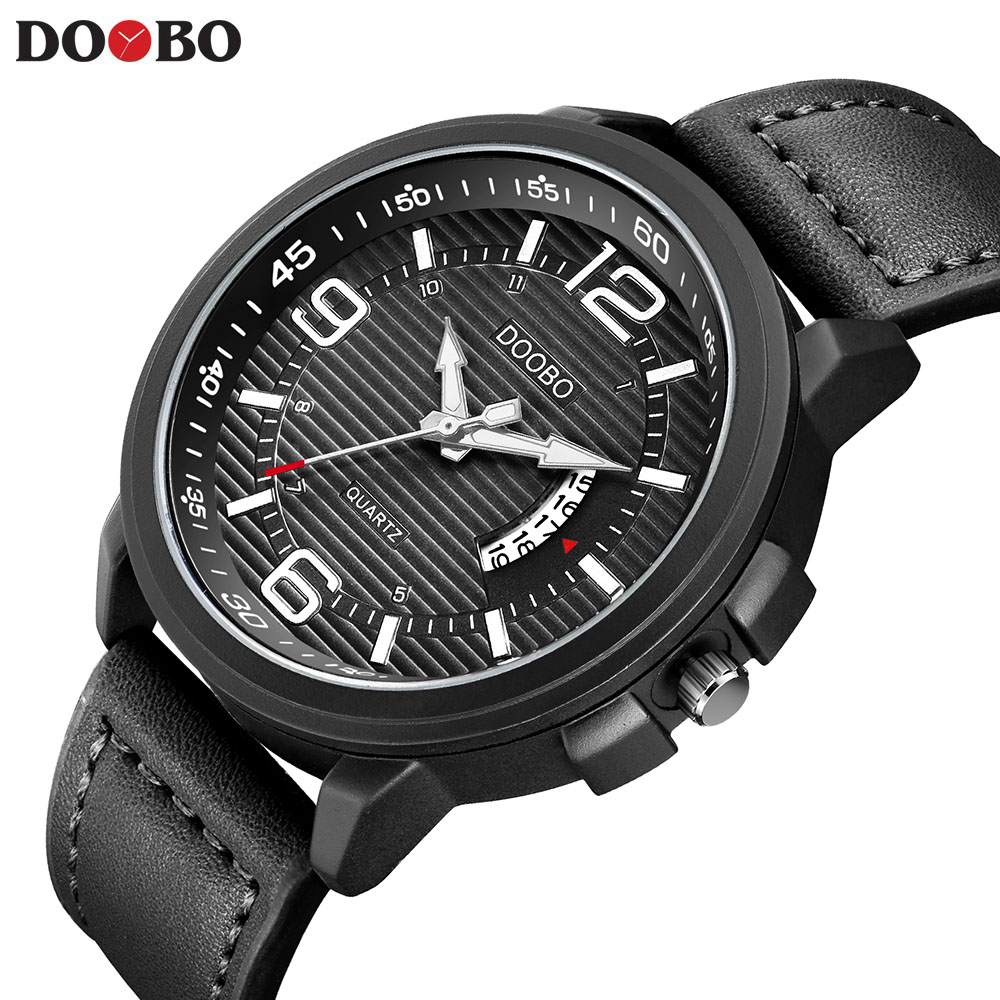 DOOBP Luxury Top Brand Fashion Casual Leather Quartz Wristwatch Analog Sport Watch Men Military Clock Man Relogio masculinoDOOBP Luxury Top Brand Fashion Casual Leather Quartz Wristwatch Analog Sport Watch Men Military Clock Man Relogio masculino