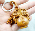 Mahogany Three-dimensional Engraving Key Chain Lifelike Elephant Key Ring 3pcs/lot A30