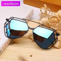 2016 Brand Pilot Sunglasses Vintage Polygon Sun Glasses For Women Designer Polarized UV 400 Metal Frame