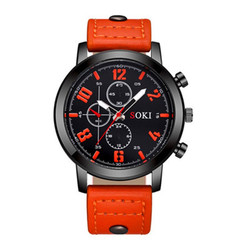 SOKI Men Watches 2018 Luxury Brand Leather Quartz Watch Fashion Sport Men's Wristwatch Reloj Hombre Clock Male Relogio Masculino