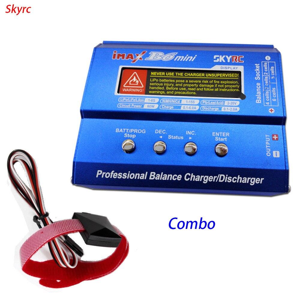 ФОТО SKYRC rc lipo charger imax B6 mini balance professional discharger + temperature sensor combo for lipo life lilon battery
