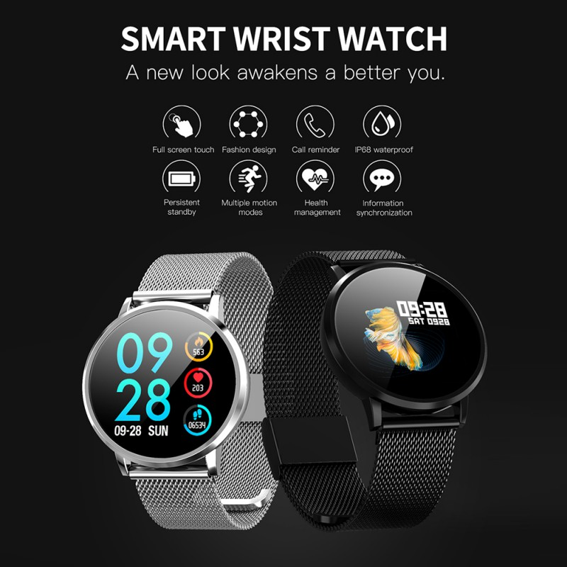 DK05 OLED Bluetooth Smart Watch Stainless Steel Waterproof Wearable Device Smartwatch Wristwatch Men Women Fitness Tracker(China)