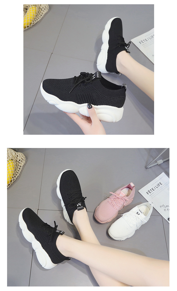 Breathable Women Casual Shoes Summer Lace Up White Platform Sneakers Fashion Soft Walking Flat Women Vulcanize Shoes New VT220 (7)