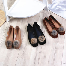 цена на 2019 Hot Rabbit Ears Women Flats Shoes Autumn Winter Slip On Women Canvas Shoes Comfort Platform Ladies Loafers WFS713