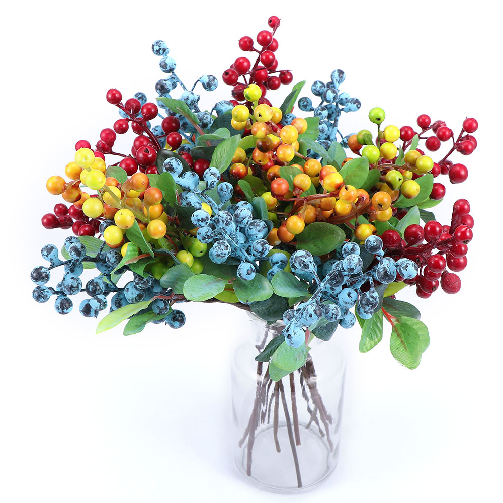 Artificial Fruits Fake Blueberry for Home Wedding Party Flower Arrangements