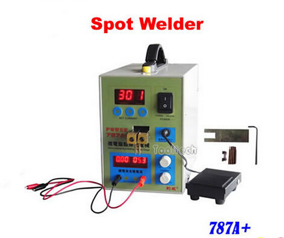 High quality mobile phone notebook battery assembly micro pulse mash welder equipment MCU point spot welder machine AC180V~240V spot welder machine laptop button battery welding machine battery pack applicable notebook and phone battery welding