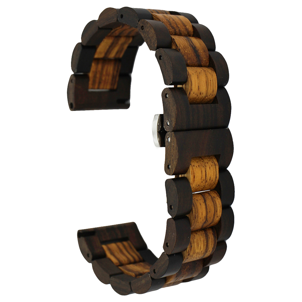 SIKAI 22mm Natural Wood Watch Band Bracelet For Huami Amazfit Stratos 2 Smartwatch Band Wooden Strap 22mm Watch Fashion Bracelet sikai 22mm soft silicone watch band with protective case for huami amazfit pace bracelet case smartwatch band wristband straps
