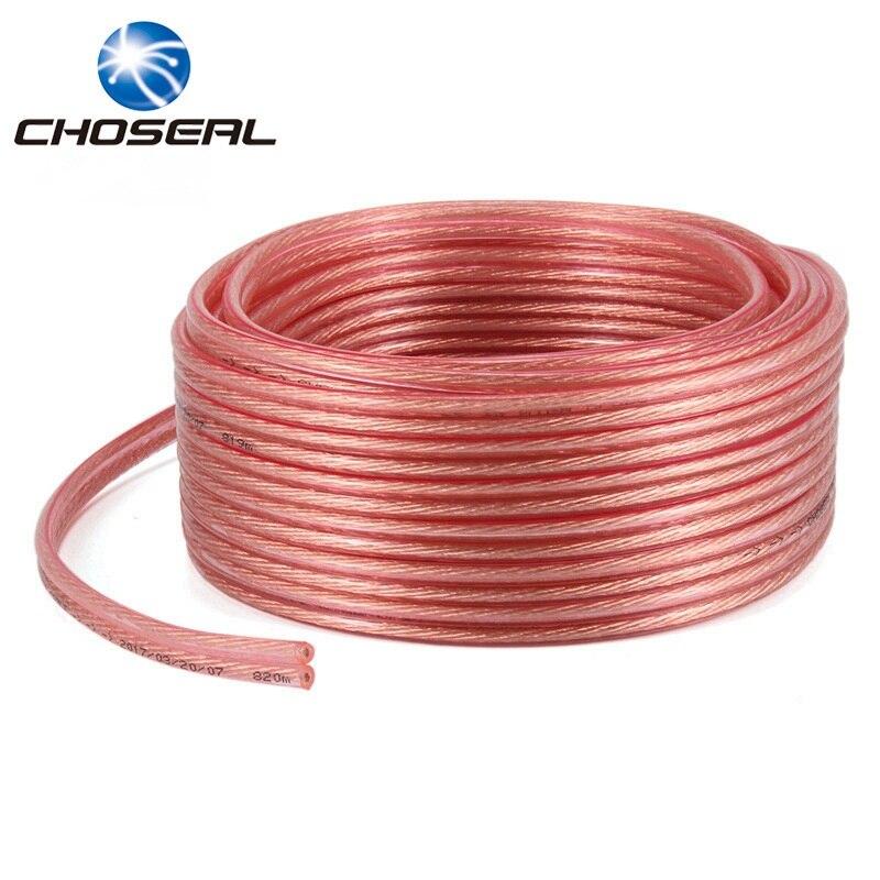 Choseal QS6250 Haut-Parleur Câble Pur Sans Oxygène Cuivre 2*50 2*100 2*150 2*200 Fils/Core DIY Audio Câble Pour Amplificateur