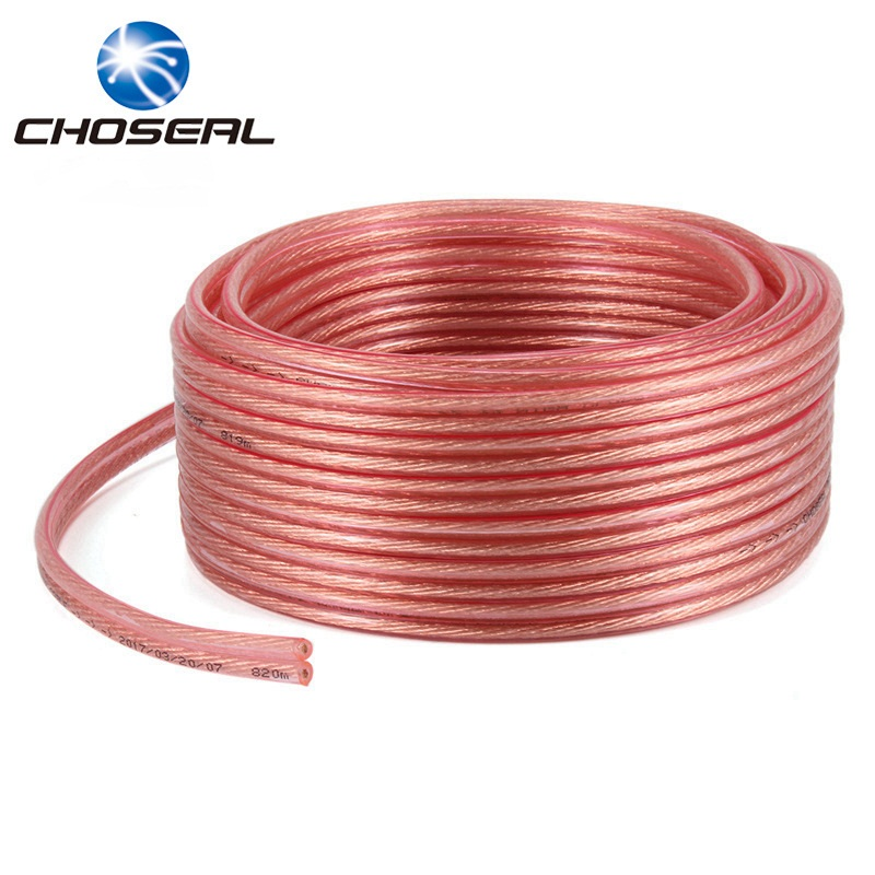 Choseal QS6250 Loud Speaker Cable Pure Oxygen-Free Copper 2*50 2*100 2*150 2*200 Wires/Core DIY Audio Cable For Amplifier 0 2% 50