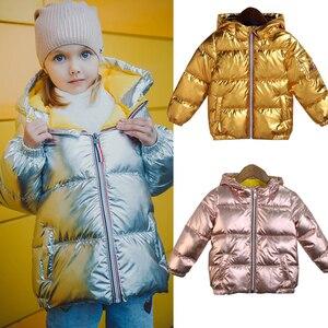 Image 1 - 子供ジャケット女の子のフード付き春冬暖かいと子供のジャケット & 生き抜く幼児の少年コート3 5 8歳