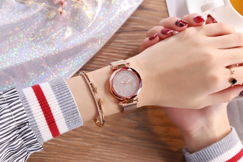 Gold Quartz Watches Ladies watch (1)