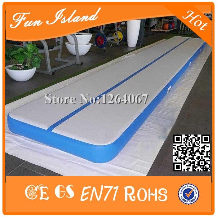 Livraison gratuite 9 M longueur gonflable bébé Gym jouer tapis Air piste sur l'eau gymnastique Yoga Balance faisceau