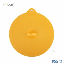 Liflicon 8.46 (215mm) Premium Silicone Suction Lids Glass Food Covers Fresh Keeping Lid for Pan Bowl Cup