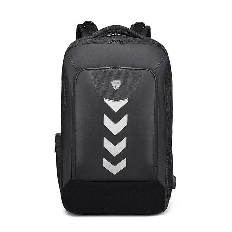 แฟชั่นผู้ชายกระเป๋าเป้สะพายหลัง USB 17 นิ้วแล็ปท็อปกระเป๋าเป้สะพายหลังคอมพิวเตอร์ขนาดใหญ่กันน้ำกระเป๋าเป้สะพายหลังโรงเรียนกระเป๋าสำหรับวัยรุ่น Mochilas-ใน กระเป๋าเป้ จาก สัมภาระและกระเป๋า บน   1