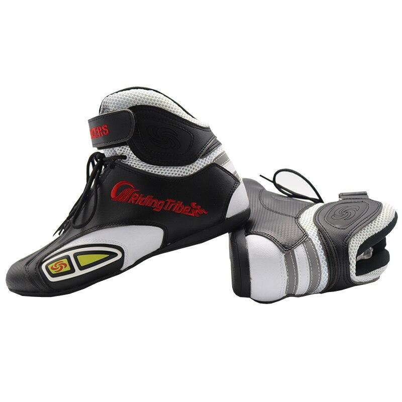 Bottes de Moto vélos chaussures courtes Moto course équitation Motocross Moto mode équipement de protection Moto bottes