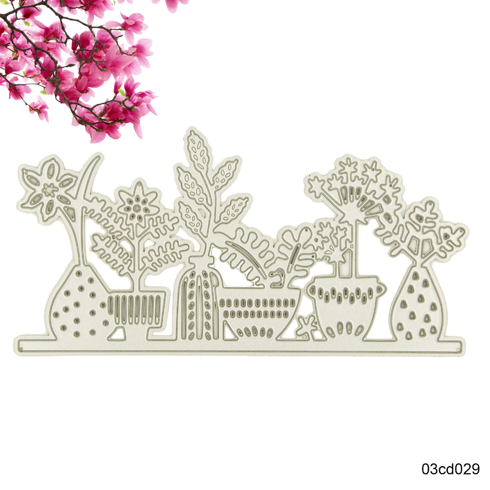 Diy Flower Pots Metal Cutting Dies Stencil Template Suit For Line Sim Bb9800 Short Circuit Repair Gsmforum Sizzix Fustella Big Shot Machine