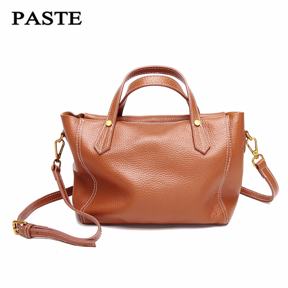 цена на Real Cow Leather Ladies HandBags Women Genuine Leather bags Totes Messenger Bags Hign Quality Designer Luxury Brand Bag new C322