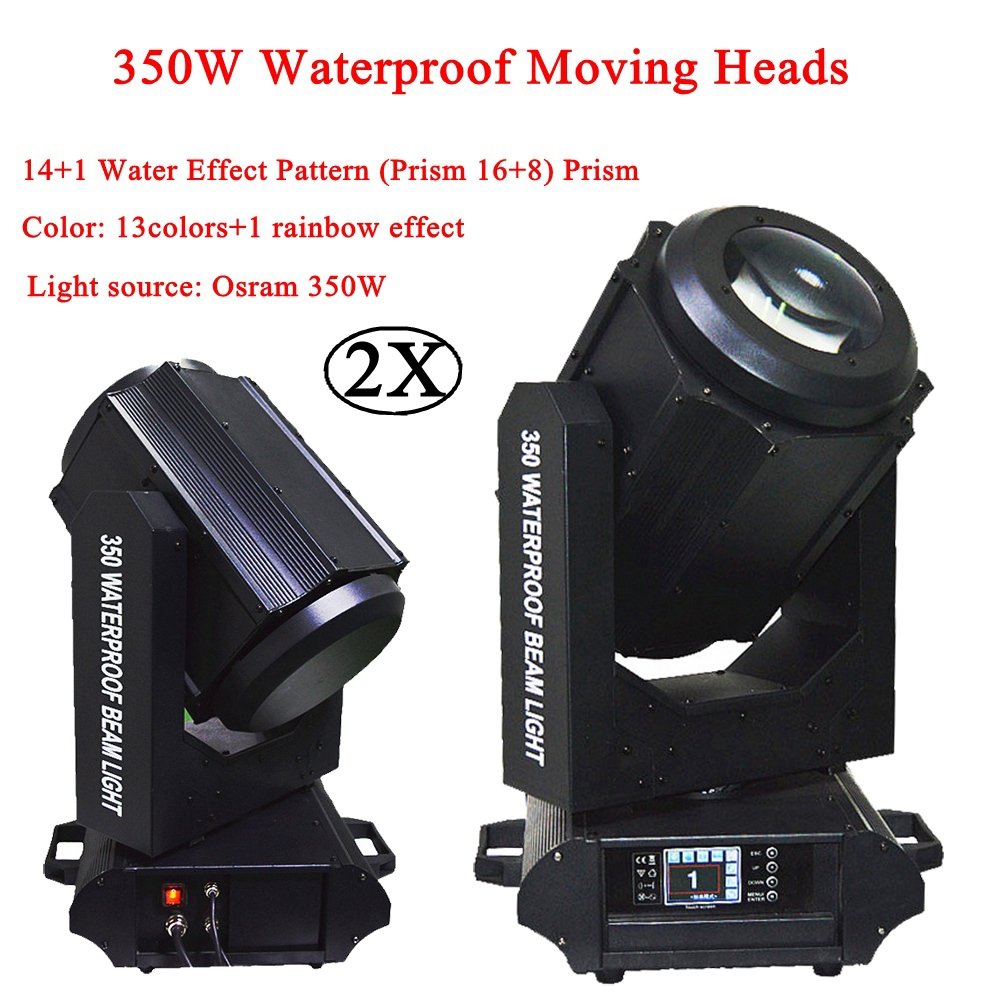 2Pcs/Lot Waterproof 350W 17R Outdoor Beam Moving Head Light Osram 350 Super Beam 17R DMX Moving Head Stage DJ Disco Party Light