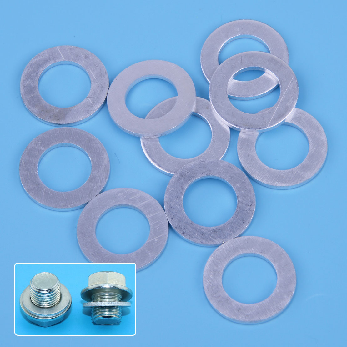 10Pcs Oil Drain Plug Crush Washer Gaskets Fit For Honda Acura 94109-14000 14mm
