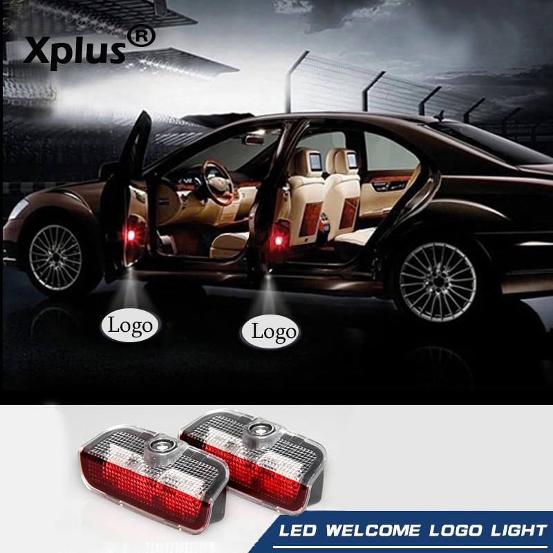 Xplus 2X Car Ghost Shadow Door Weclome Light Logo Projector For VW Passat B6 B7 Tiguan Jetta MK5 MK6 CC EOS Golf 5 6 7