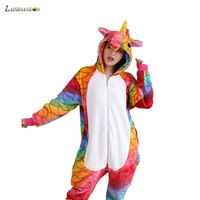 Unicorn Adult Anime Kigurumi Cosplay Costume Pajamas Onesies For Women Cartoon Unicornio Pijama Fannel Hoodie Onepiece