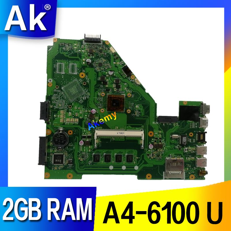 AK For ASUS X550EP X550EA X550E X550E D552E X552E A4 6100 2GB laptop motherboard tested 100