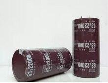 63 В 22000 мкФ 22000 мкФ 63 В высокочастотный длительный срок электролитический Конденсаторы объем: 35*70