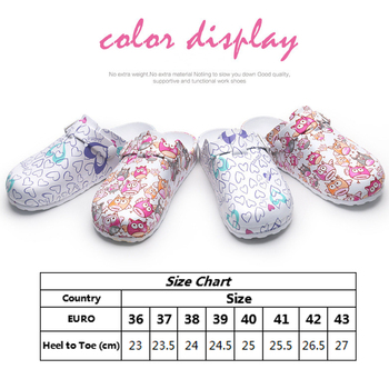 Lizeruee Wholesale Nursing Clogs Hospital Surgical Medical Anti-slip Slippers Cartoon Workwear Cleaning Shoes Lab SPA Slippers 2