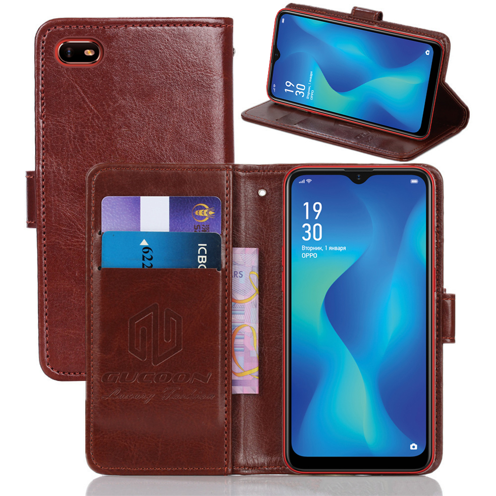 GUCOON Classic Wallet <font><b>Case</b></font> for <font><b>OPPO</b></font> A1k A7X <font><b>AX7</b></font> Pro Cover PU Leather Vintage Flip <font><b>Cases</b></font> Fashion <font><b>Phone</b></font> Bag Shield image