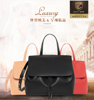 CHJJNY Lady Bag Shoulder Real Leather Crossbody Luxury Women Messenger Drawstring Designer Rachel Mansur And Floriana