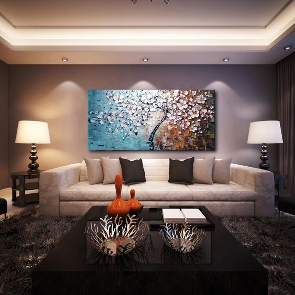 aliexpress com buy unframed hand painted canvas oil paintings aliexpress com buy unframed hand painted canvas oil paintings set flower tree canvas painting for home living room office art picture 60 120cm from