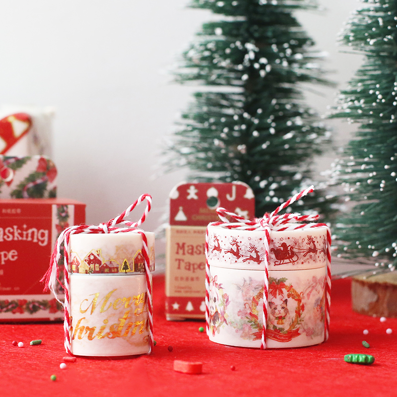1.5 3cm*5 7m Christmas decoration washi tape DIY decoration scrapbooking masking tape adhesive tape