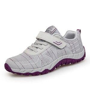 Image 2 - PINSEN 2020 الخريف موضة النساء أحذية عالية الجودة أحذية رياضية كاجوال أحذية امرأة الشقق الدانتيل متابعة الزواحف مريحة حذاء للأمهات