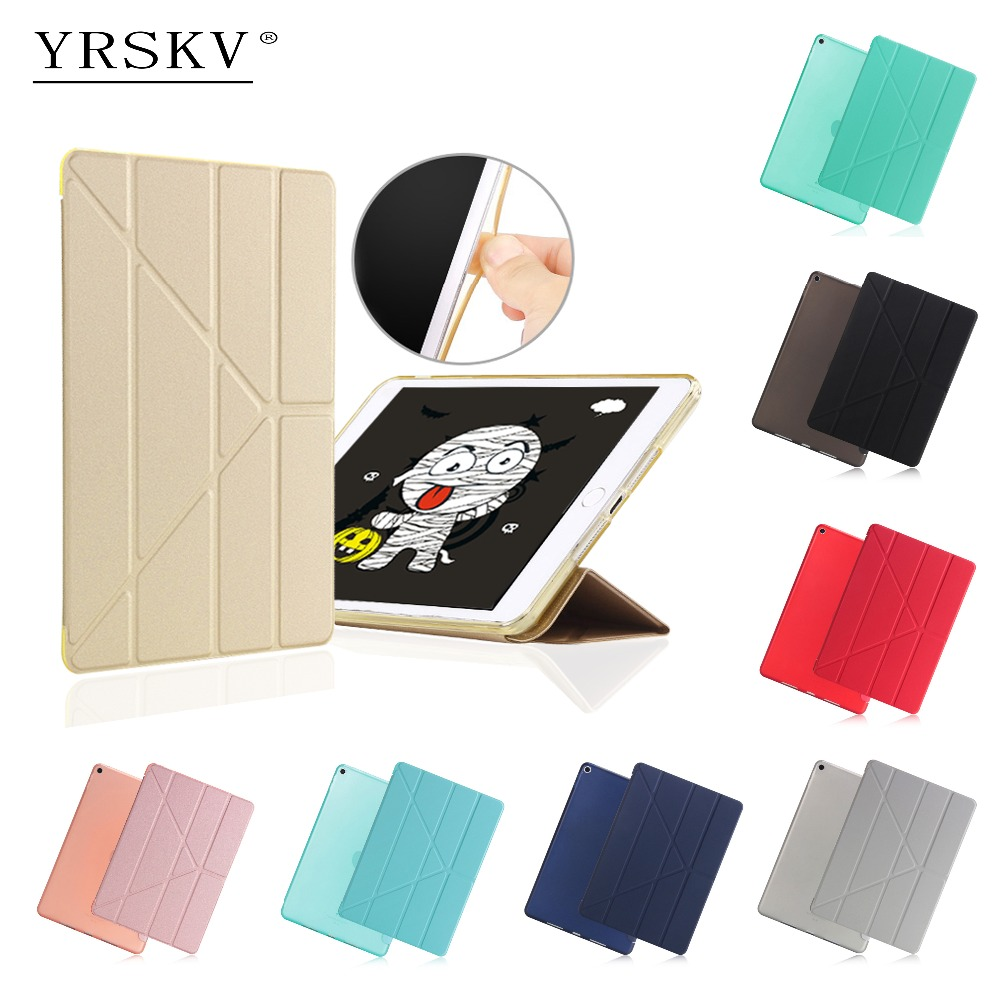 Case for iPad 9.7 inch 2017/2018 (6th generation) YRSKV PU Leather + TPU Rear Cover Smart Auto Sleep Wake Tablet Case for iPad все цены