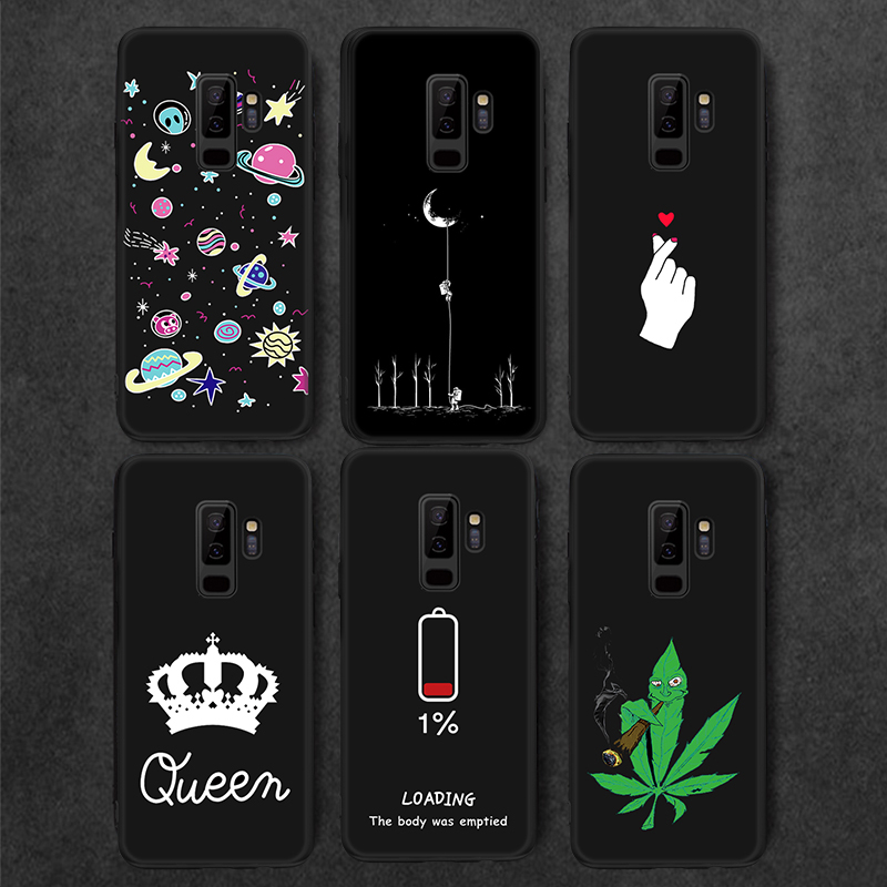 Fashion Love Heart Painted Slim Case For Samsung Galaxy A5 A7 2017 A30 A50 S9 S8 S10 E A6 A8 Plus A9 2018 Note 8 9 Soft Cover magnetic attraction bluetooth earphone headset waterproof sports 4.2