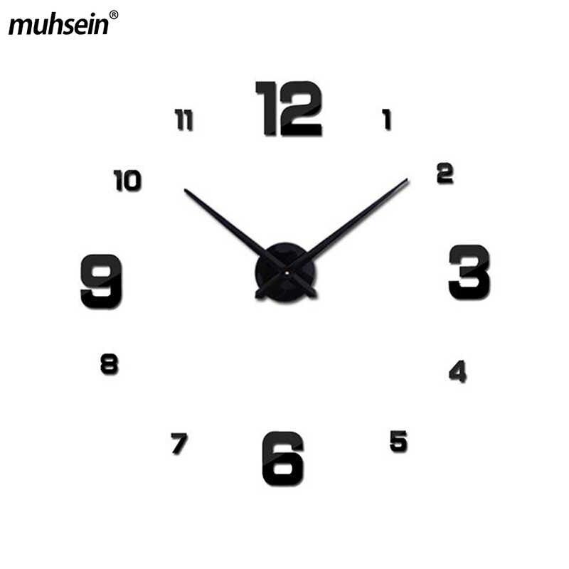 2019 Venta caliente nuevo reloj de pared Relojes pegatinas espejo acrílico decoración del hogar Balcón de cuarzo/aguja de patio envío gratis