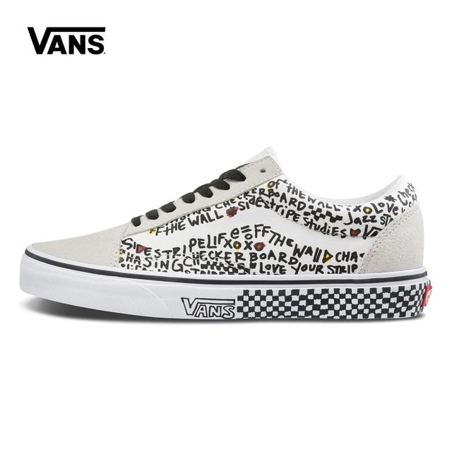 50259fd5e94458 Original New Arrival Vans Men s   Women s Classic OLD SKOOL Low-top  Skateboarding Shoes Sneakers Canvas Comfortable VN0A38G1U7B