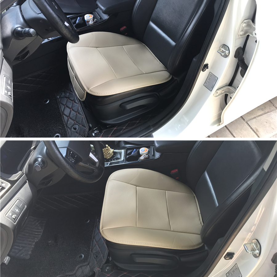 1Pc Car Front Seat Cushion Beige PU Leather Deluxe Protector Cushion Automotive interior accessories in Automobiles Seat Covers from Automobiles Motorcycles