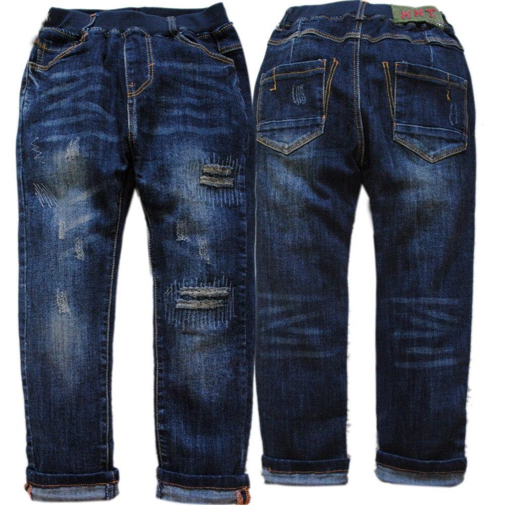 3989 120-165cm výška džínové boy jeans kalhoty dětské kalhoty - Dětské oblečení