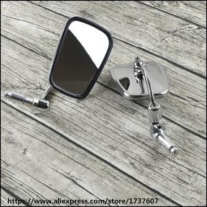 Image 2 - Universal cafe racer spiegel motorrad edelstahl rückspiegel vintage motorrad griff bar rückspiegel für GN