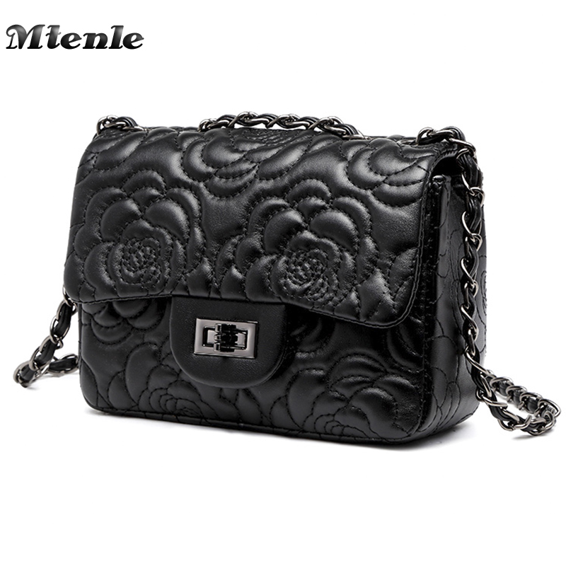MTENLE Hot Sale Small Embroidery Bag Women Crossbody Bags Luxury Brand  Ladies Handbag Chain Flower Bag 6d98d09e540b5