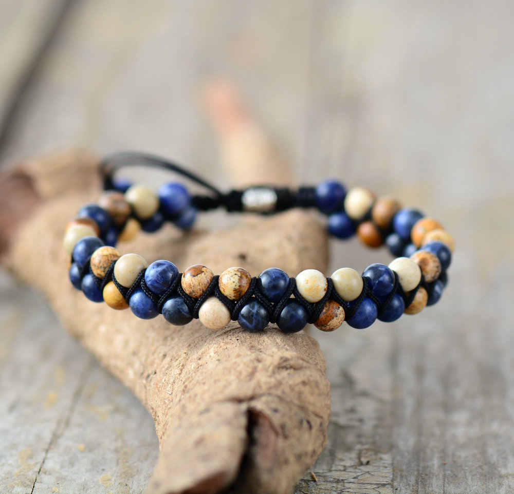 4685b2e573 ... Men Bracelet Matte Onyx Tiger Eye Black Cord Braided Bracelet Handmade  Friendship Bracelets Mens Beads Punk ...