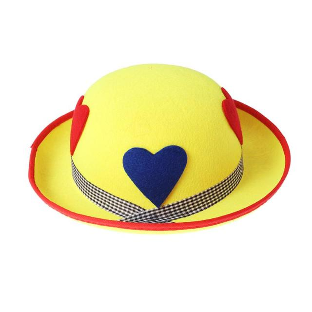 Bright Color Cute Comfortable Adults Clown Hat Performance Headwear Hat  Cosplay Props for Halloween Stage Costume Party 5b7bfca5952