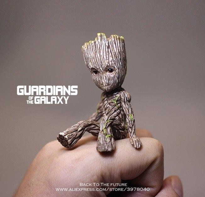 Disney de guardianes de la galaxia 2 Hombre árbol juntas sentado coleccionable juguete de PVC de dibujos animados Mini figura de acción juguetes de la muñeca modelo