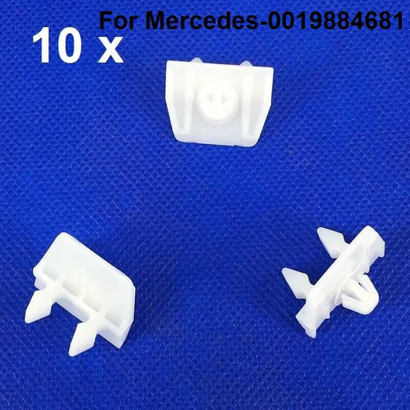 10 Body Side Quarter Panel Moulding Clips For Mercedes Benz