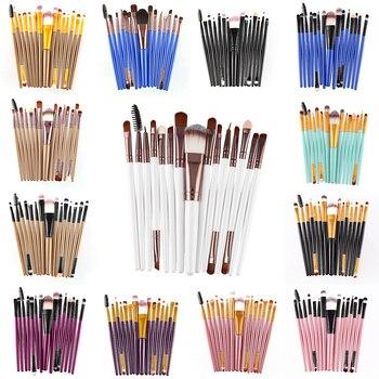 15Pcs Pro Makeup Brushes Set Eyelash Lip Foundation Powder Eye Shadow Brow Eyeliner Brush Cosmetic Make Up Brush Beauty Tool Kit 1