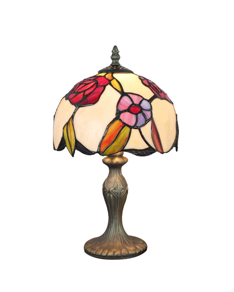 shipping table lamps stained glass tiffany with resin base desk light. Black Bedroom Furniture Sets. Home Design Ideas