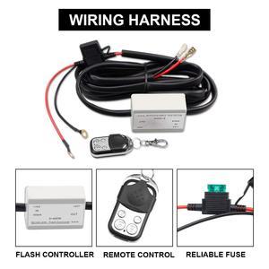 Image 3 - 12V 40A LED Light Bar MAX 400 วัตต์โหลดสวิตช์เปิด ปิด Strobe RF Wireless REMOTE ควบคุมชุดสวิทช์สำหรับชุดทำงาน