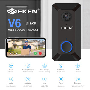 EKEN Smart Wireless Wifi Video Doorbell Intercom Phone Call Door Bell Camera Infrared Remote Record Home Security Monitoring