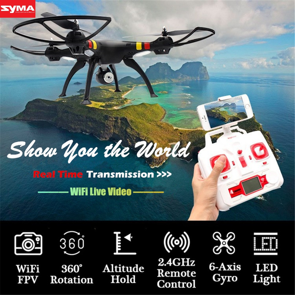 SYMA Aircraft RC Quadcopter 2.4G 6-Axis Gyro Live Video Drone with Came helicopter gyro remote Control aircraft dec27 new arrival attop a5 2 4g 4ch 6 axis gyro rtf remote control quadcopter 180 360 degree flips aircraft drone toy 2016